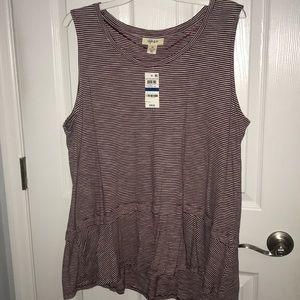 Peplum Striped Shirt